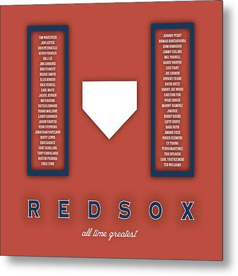 Boston Red Sox Art - Mlb Baseball Wall Print Metal Print by Damon Gray