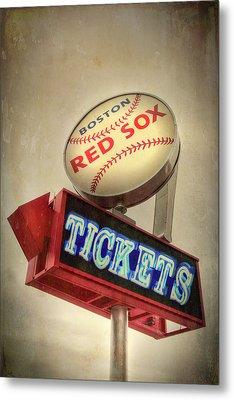 Boston Red Sox Vintage Baseball Sign Metal Print