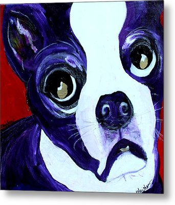 Boston Terrier- Lucy Metal Print by Laura  Grisham