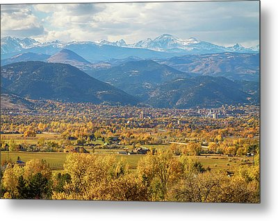 Boulder Colorado Autumn Scenic View Metal Print by James BO  Insogna