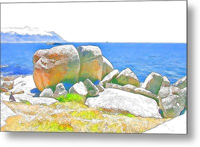 Boulders 4 Metal Print by Jan Hattingh