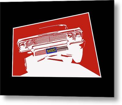 Bounce. '63 Impala Lowrider. Metal Print by MOTORVATE STUDIO Colin Tresadern