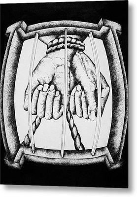 Bound Metal Print by Omphemetse Olesitse