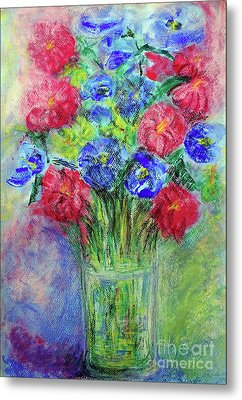 Metal Print featuring the painting Bouquet by Jasna Dragun