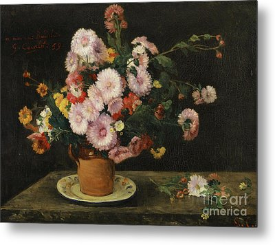 Bouquet Of Asters, 1859 Metal Print