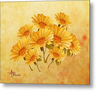 Bouquet Of Daisies Metal Print by Angeles M Pomata