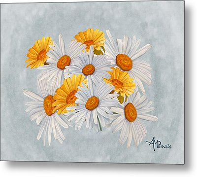 Bouquet Of Wild Flowers Metal Print by Angeles M Pomata
