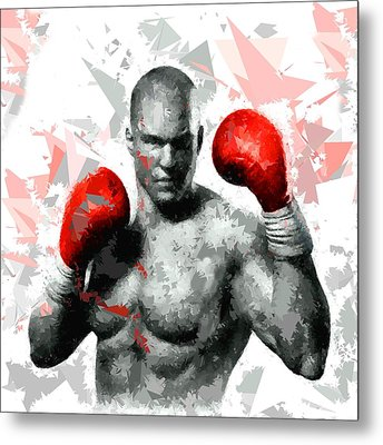 Metal Print featuring the painting Boxing 114 by Movie Poster Prints
