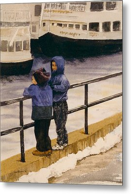 Boys N Boats Metal Print