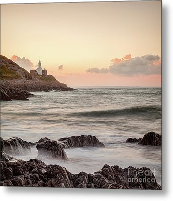Metal Print featuring the photograph Bracelet Bay And The Mumbles Lighthouse by Colin and Linda McKie