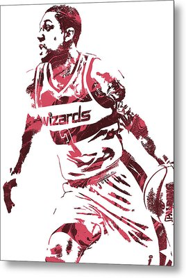 Bradley Beal Washington Wizards Pixel Art 3 Metal Print