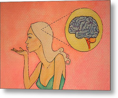 Brains And Beauty Metal Print by Ramey Guerra
