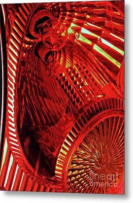 Brake Light 42 Metal Print by Sarah Loft
