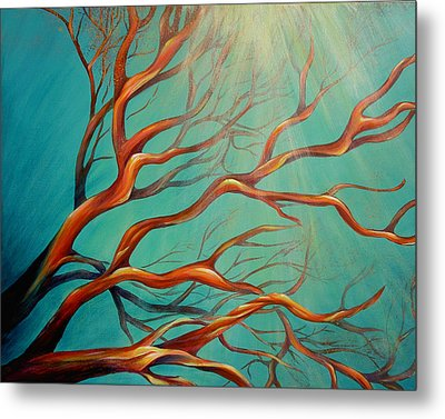 Metal Print featuring the painting Branching Out by Dina Dargo