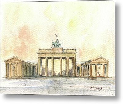 Brandenburger Tor, Berlin Metal Print