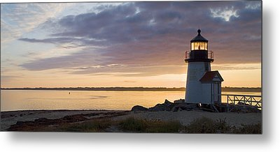 Brant Point Dawn - Nantucket Metal Print by Henry Krauzyk
