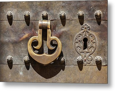 Brass Castle Knocker Metal Print
