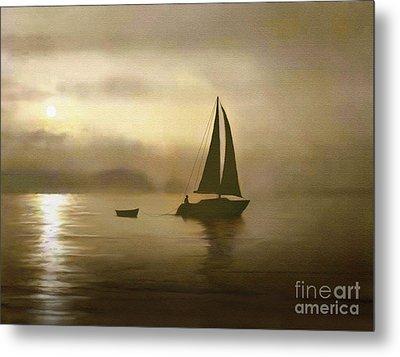 Brass Sail Metal Print by Robert Foster