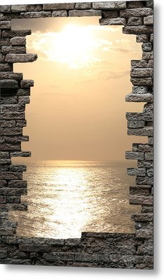 Breaking The Wall Metal Print