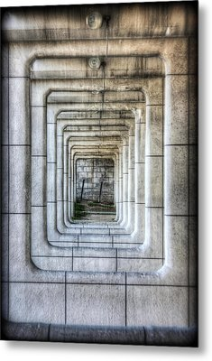 Breaking Through The Forth Wall Metal Print by David LaSpina