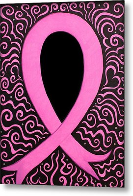 Breast Cancer Awareness Ribbon Metal Print by Mandy Shupp