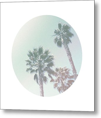 Breezy Palm Trees- Art By Linda Woods Metal Print by Linda Woods