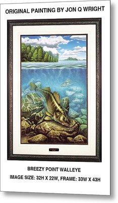 Breezy Point Walleye Original Metal Print by Jon Q Wright