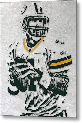 Brett Favre Green Bay Packers Pixel Art Metal Print by Joe Hamilton