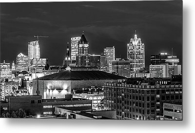 Metal Print featuring the photograph Brew City At Night by Randy Scherkenbach