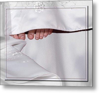 Bridal Toes Metal Print