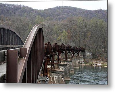 Bridge At Ohiopyle Pennsylvania Metal Print