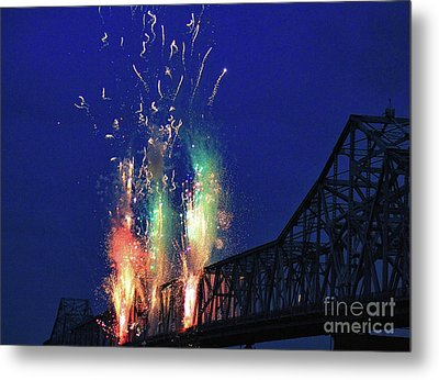 Bridge Attack Metal Print by Matthew Winn