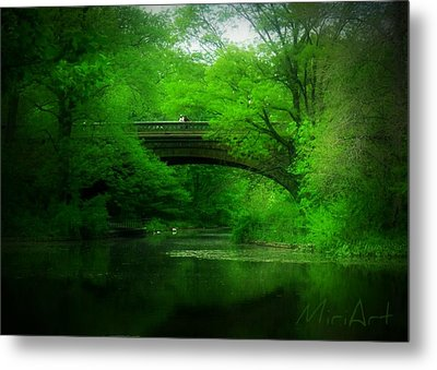 Bridge Metal Print by Miriam Shaw