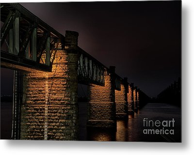 Bridge On Holy River Godavari Metal Print