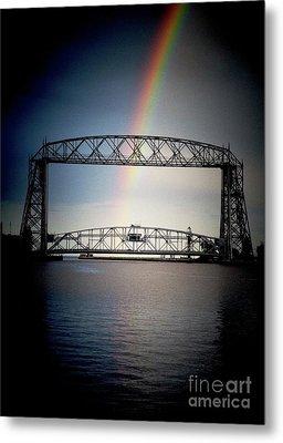 Somewhere Over The Lift Bridge Metal Print by Mark David Zahn Photography