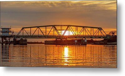 Bridge To Tranquility  Metal Print by Betsy Knapp