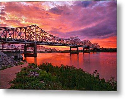 Bridges At Sunrise II Metal Print by Steven Ainsworth
