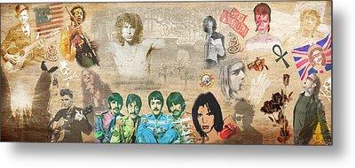 Brief History Of Rock'n'roll Metal Print by Stephen Walker
