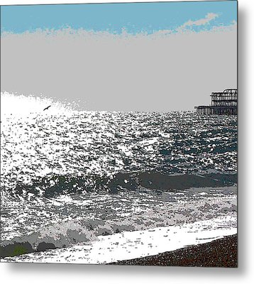 Brighton West Peer Metal Print