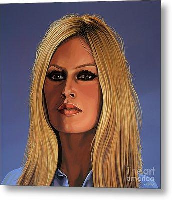 Brigitte Bardot 3 Metal Print by Paul Meijering