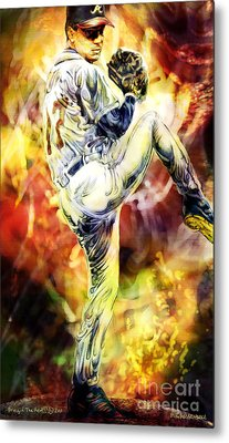 Bringin' The Heat Metal Print
