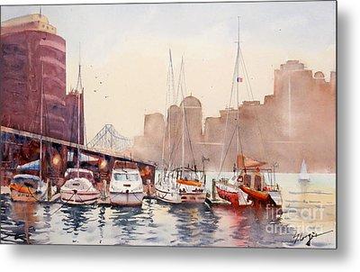 Brisbane River From Gardens Point Metal Print by Sof Georgiou
