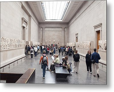 British Museum Gallery 0056 Metal Print by Charles  Ridgway