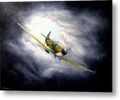 British Spitfire Mk. 1a Metal Print