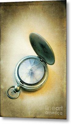 Metal Print featuring the photograph Broken Pocket Watch by Jill Battaglia