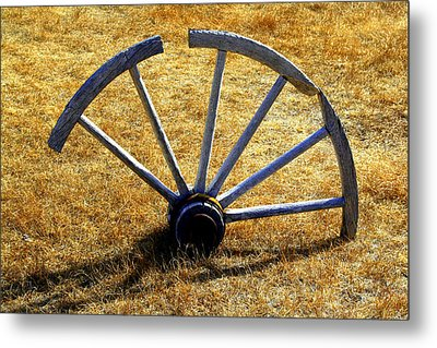Metal Print featuring the photograph Broken Spokes by Lynn Bawden