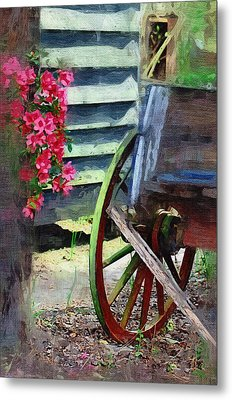Metal Print featuring the photograph Broken Wagon by Donna Bentley