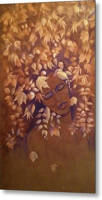 Bronze Beauty Metal Print by T Fry-Green