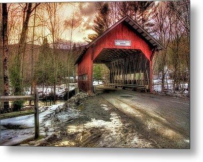 Brookdale Covered Bridge - Stowe Vt Metal Print