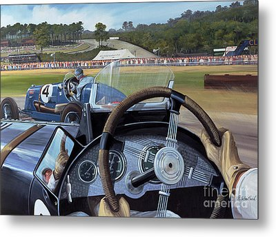 Brooklands From The Hot Seat  Metal Print by Richard Wheatland